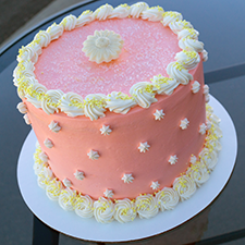 Light citrus grapefruit cake