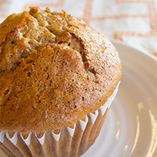Morning Glory muffins with golden raisin, carrot and zucchini